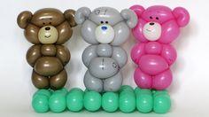 Плюшевый мишка из шарика / One balloon Teddy bear (Subtitles)