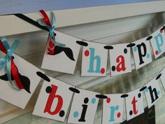 Mustache Birthday Party Banner-Moustache Party Decorations- Unisex Birthday Garland- Adult or Kids Birthday Banner- You Pick the Colors