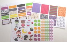 Halloween Girls Kit MATTE Stickers for the Erin by Plannergirls
