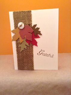 Thanksgiving Card....like the burlap only