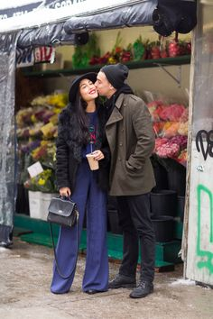 Couple Stalking! 15 Cute NYC Duos #refinery29 http://www.refinery29.com/stylish-couples#slide-2