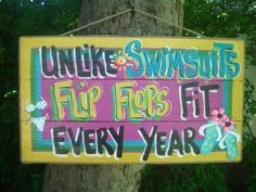 We offer custom wood signs. Flip Flop Quotes, Patio Signs, Pool Signs, Beach Patio, Tiki Hut, I Love The Beach, Beach Fun, Beach Signs, My Happy Place