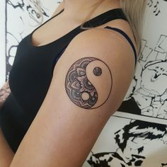 Ying & Yang mandala done by @rustemhorzum at @tattoostudio Bergen, Norway
