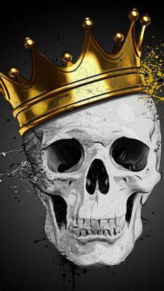 King skull wallpaper by GalaxyMegaCat - - Free on ZEDGE™ I Phone 7 Wallpaper, Skull Wallpaper, Dark Wallpaper, Cute Skeleton, Skeleton Art, Skull Tattoo Design, Skull Tattoos, Caveira Mexicana Tattoo, 2 Clipart