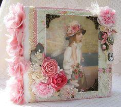 ELITE4U Toni Premade Scrapbook Album Victorian Style Fairy Girl Prima Flowers   eBay
