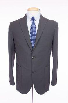 BOGLIOLI Mens Dover Blazer 48 38 M Gray Cotton Twill Striped Jacket Sport Coat #Boglioli #ThreeButton
