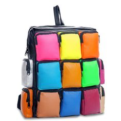 2 058,95 руб. Мульти карман совместное пу контраст цвета школьные рюкзаки и ранцы для девочек девочки путешествия колледж сумки для женщин Mochila Femininaкупить в магазине Shop MeнаAliExpress