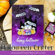 Pretty Pink Posh: Distress Ink Halloween Card + Video