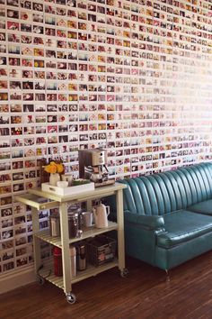 DIY Instax photo wall from @Elyse Exposito Exposito Exposito Exposito Exposito Woodbury Pehrson Larson of A Beautiful Mess
