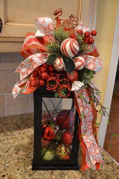Faro navideño para la mesa