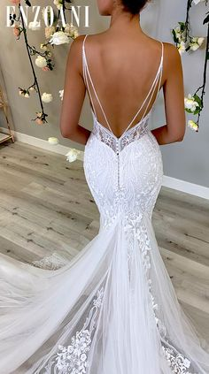 Stunning Wedding Dresses, Wedding Dress Trends, Dream Wedding Dresses, Bridal Dresses, Wedding Gowns, Backless Wedding, Wedding Ideas, Designer Wedding Dresses, Wedding Dress Low Back