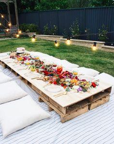 Garden Party Ideas, The Best Summer Party Gartenparty-Ideen, die beste Sommerparty – Backyard Picnic, Backyard Ideas, Wedding Backyard, Backyard Landscaping, Garden Picnic, Landscaping Ideas, Garden Wedding, Wedding Dinner, Backyard Seating