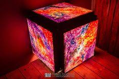 Nebula Cube - Artist: Paul Brullo  @Opticosstudio  #lightbox #art #space #canvas