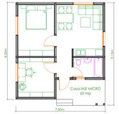 Casa Ecologica MICRO STANDARD - Construcții de case din lemn și case imprimate 3D Sweet Home, Floor Plans, Flooring, How To Plan, House, Houses, House Beautiful, Home, Wood Flooring