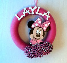 Children's Room Personalized Minnie Mouse Yarn by 3SunshineKisses, $30.00
