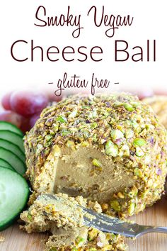 Smoky Vegan Cheese Ball (gluten free) - This easy cashew cheese ball is sliceable, but softens to a creamy texture when you let it sit out. #vegancheeseball #vegancheese Vegan Cheese Recipes, Cashew Cheese, Breakfast Recipes, Dinner Recipes, Vegan Christmas, Gluten Free Dinner, Healthy Sides, Nutritional Yeast, Cheese Ball