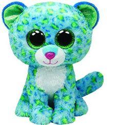 Peluche leopardo azul y verde