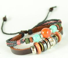 The latest stylegenuine leather bracelet with by littlemi6658, $6.80