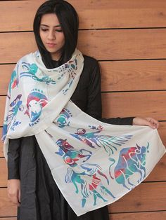 Sunsigns Batik Print Silk Scarf