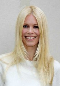 Claudia Schiffer Hairstyle, Makeup, Dresses, Shoes and Perfume