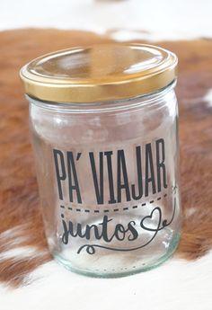 Alcancia Pa' Viajar Juntos Alcancias Ideas Aniversario, Projects To Try, Desserts, Trips, Future, Deco, Random, Food, Jars