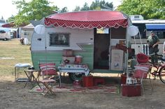 2012 Mount Baker Vintage Trailer Rally - Red mint white and a little light gold