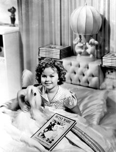 Shirley Temple on the set of Poor Little Rich Girl, 1936.