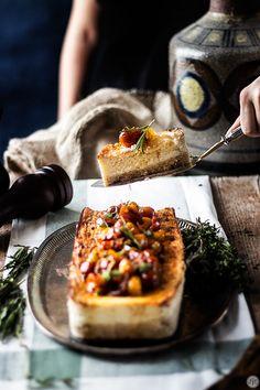 Cheesecake salado con tomates confitados, una receta sorprendente - Jaleo en la Cocina