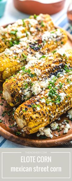 Pump up the summertime flavors with this Elote Corn recipe. Mexican Dishes, Mexican Food Recipes, Vegetarian Recipes, Healthy Recipes, Ethnic Recipes, Mexican Cooking, Healthy Foods, Healthy Life, Side Dish Recipes