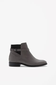 COS | Strap-detail leather boots