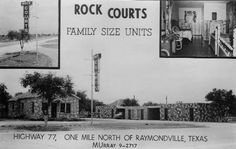 Rock Courts - 1950's Raymondville..my birth home.  I so love ..its where my heart is   ;-)