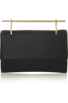 M2Malletier Fabricca leather clutch | NET-A-PORTER