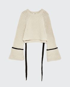 Image 2 of CASHMERE SWEATER WITH RIBBON from Zara