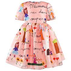 Organza Silk Drawing Dress