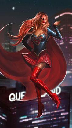 Supergirl by InuyashasRealWife on DeviantArt Power Girl Supergirl, Supergirl Dc, Batgirl, Comic Style Art, Comic Styles, Arte Dc Comics, Female Superhero, Comics Girls, Comic Character