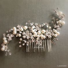 Vintage Wedding Rhinestone Haircomb The Great Gatsby Chintz Silver Bridal Headpiece Art Deco Hair Accessories