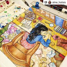 #Repost @aline_hallais with @repostapp  Livro - book the present da Daria Song #thepresent #dariasong #colorindolivrostop #boracolorirtop #divasdasartes #coloringbookforadults #coloring #coloringbook
