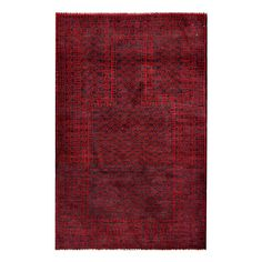 With a distinctive style, a gorgeous area rug from Afghanistan will add some splendor to any decor. This Tribal Balouchi area rug is hand-knotted with a geometric pattern in shades of red and navy.