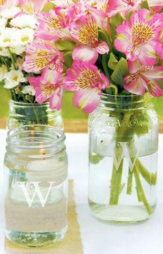 cute personalized mason jars