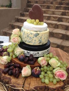 A Cheese Cake Wedding Cake, love the twist in tradition.