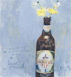 Kurt Jackson - Snowdrops, primroses and a beer in March Kurt Jackson, St Just, Love Oil, Jackson's Art, Rustic Art, A Level Art, Still Life Art, Beautiful Artwork, Flower Art
