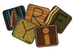 Toddler Alphabet Blocks Kit Nature Set of 26 | CFK12614 | Carpets for Kids