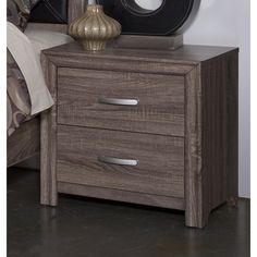 District 7 Nightstand in Brown | New Classic | Home Gallery Stores