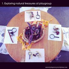Reggio activities exploring natural materials {An Everyday Story}