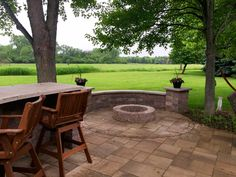 Belgard Patio Design With Fire Pit By Long Grove, IL Patio Builder