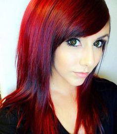 dark red hair dye | Technicolor: My Hair Color - How To Get Dark Red Hair!! by longlong