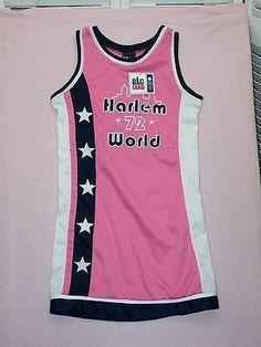 BIG Land pink stretch basketball jersey dress Harlem World 72  New size L