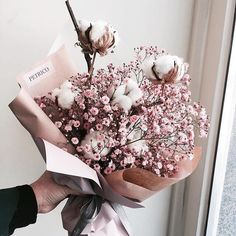 Flowers - Beautiful flowers for all occasions on We Heart It Beautiful Bouquet Of Flowers, Dried Flower Bouquet, Dried Flowers, Beautiful Flowers, Little Flowers, My Flower, Silk Wedding Bouquets, Wedding Flowers, Flower Aesthetic