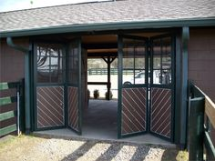 Bi-fold door stable entry #stables #door