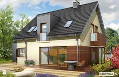 Projekt domu Mati G1 - widok od ogrodu - zdjęcie od Pracownia Projektowa ARCHIPELAG